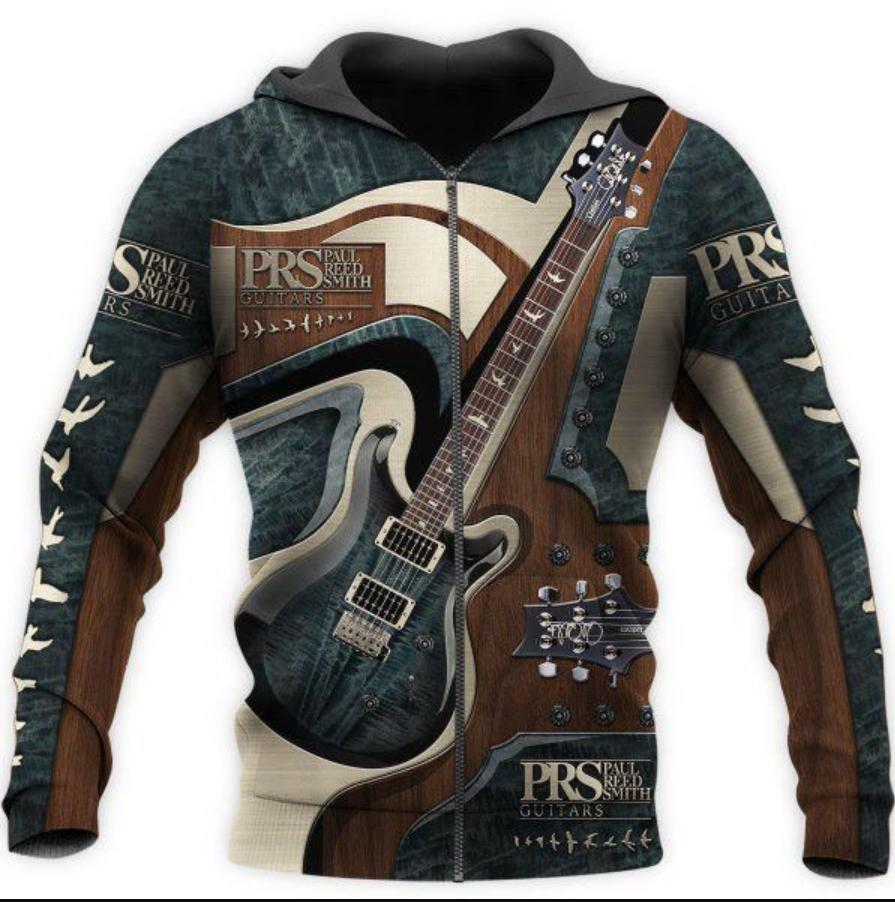 PRS Guitar all over printed 3D zip hoodie
