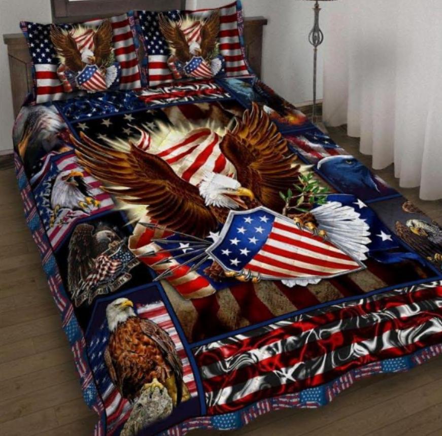 Patriotic Eagle bedding set