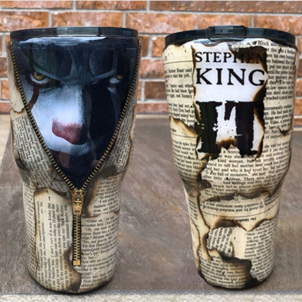 Pennywise Stephen King tumbler