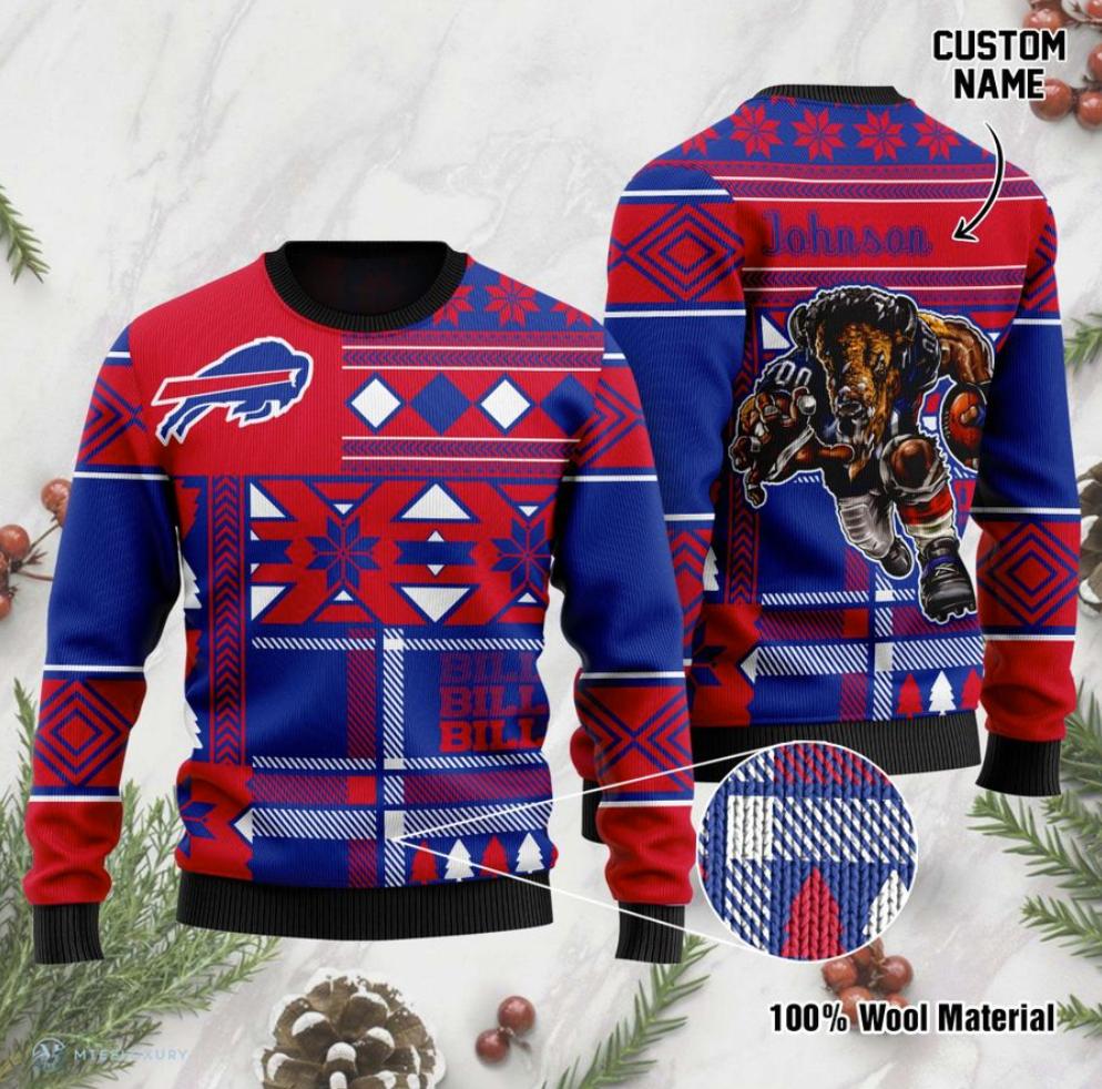 Personalized Buffalo Bills ugly sweater