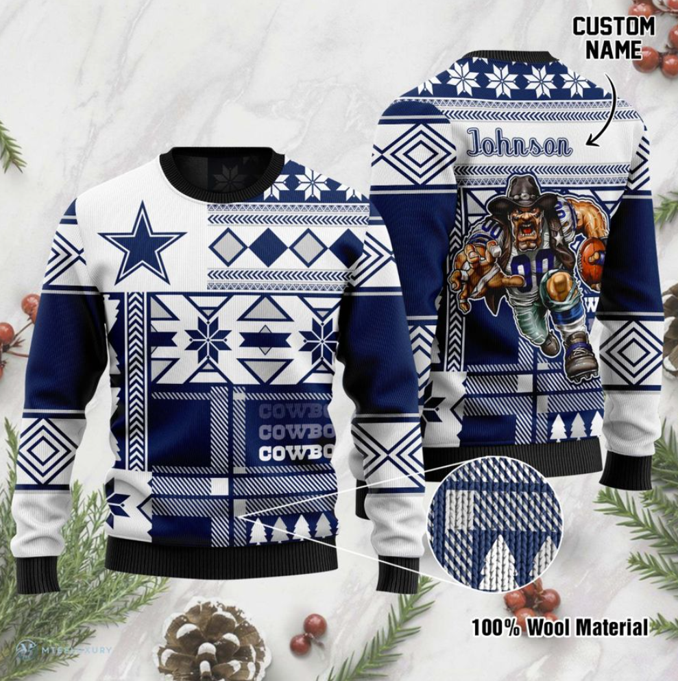 Personalized Dallas Cowboys ugly sweater