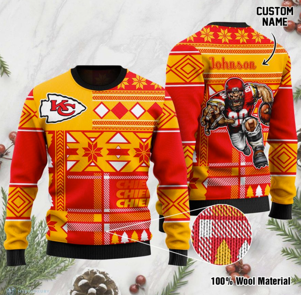 Personalized Kansas City Chiefs ugly sweater