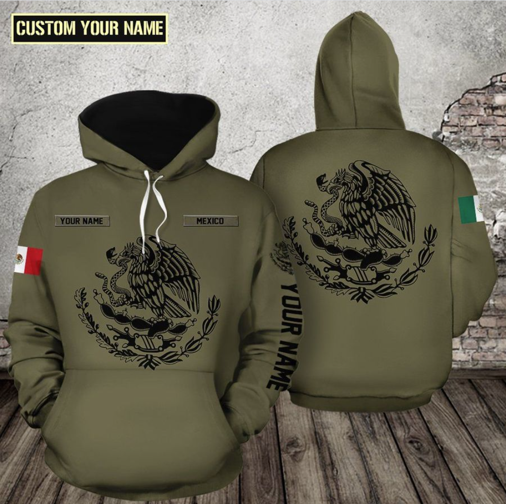 Personalized Mexico all over printed 3D hoodie