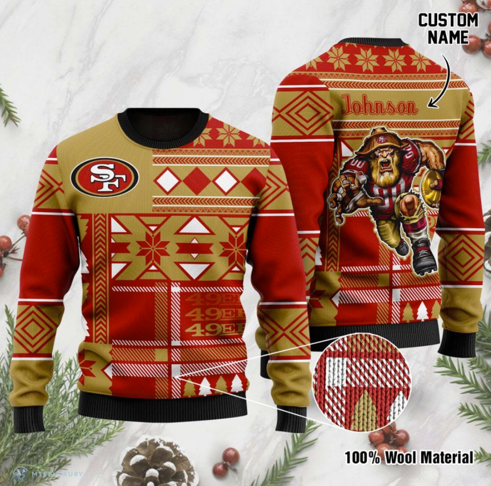 Personalized San Francisco 49ers ugly sweater