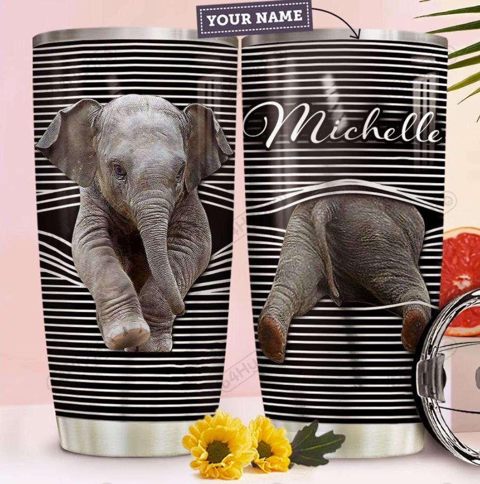 Personalized elephant tumbler