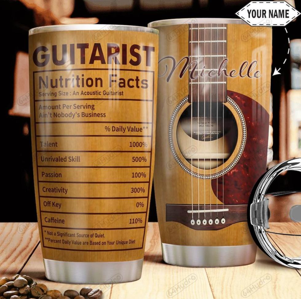 Personalized guitarist tumbler