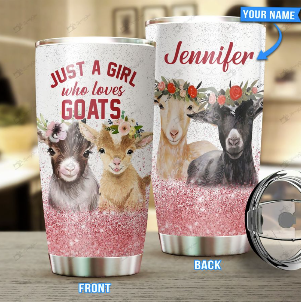 Personalized just a girl who loves goats tumbler
