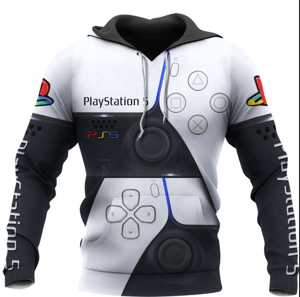 PlayStation 5 all over printed 3D hoodie
