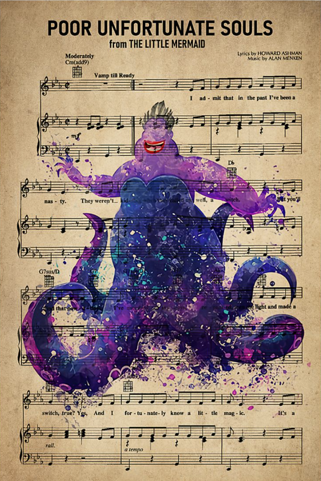 Poor unfortunate souls from the Little Mermaid poster