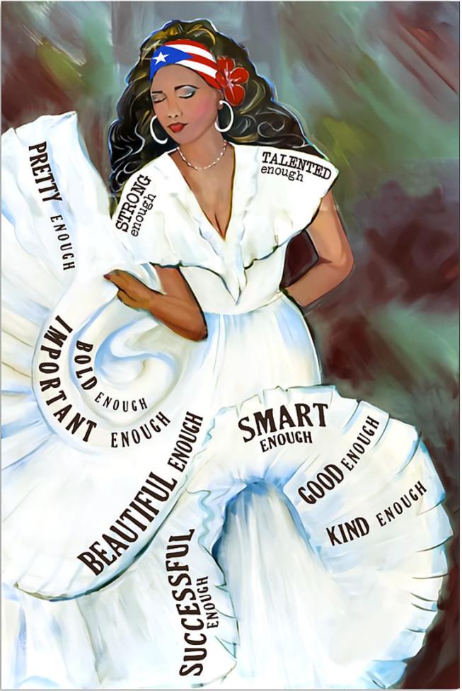 Puerto Rico girl bomba dance poster
