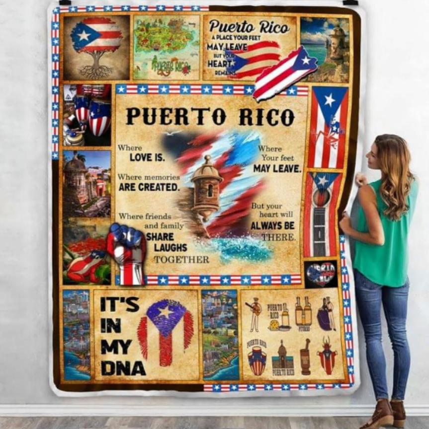 Puerto rico it's in my DNA quilt