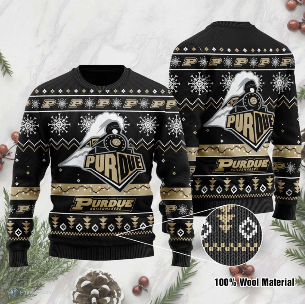 Purdue Boilermakers football ugly sweater