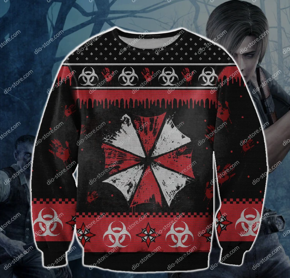 Resident Evil 3D ugly sweater