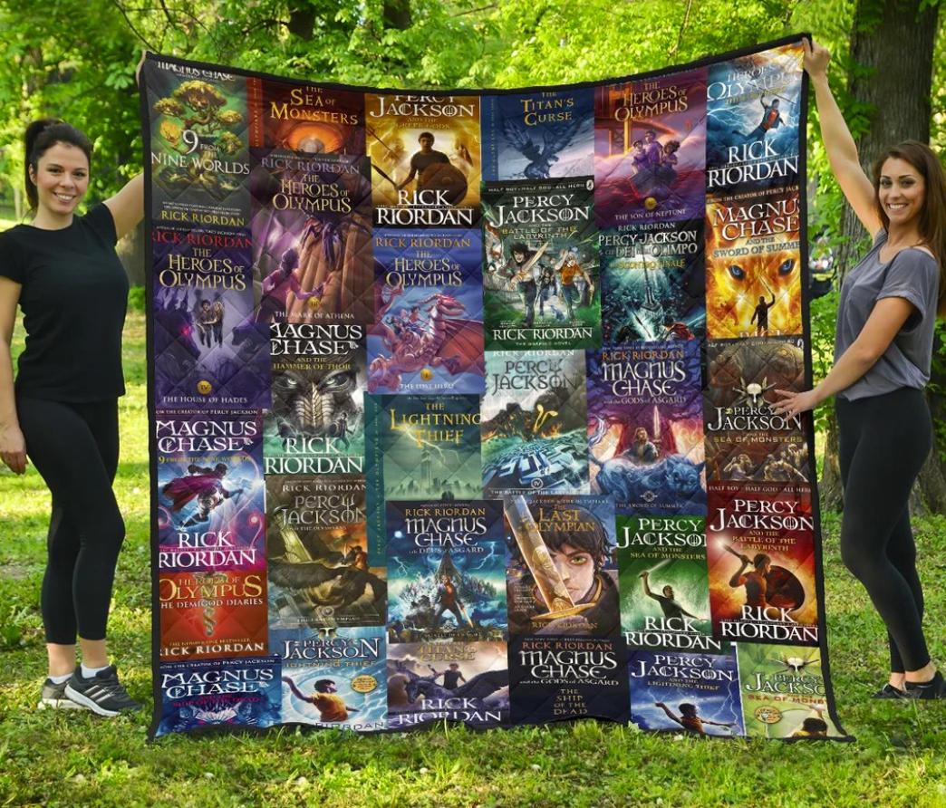 Rick Riordan book covers quilt