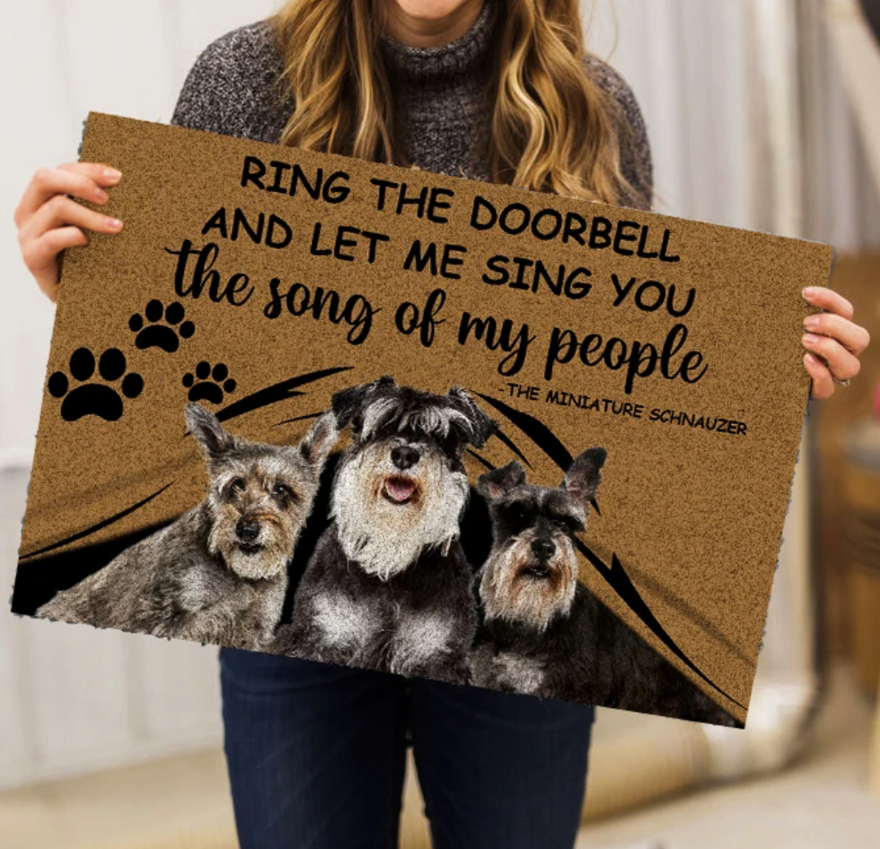 Ring the doorbell and let me sing you the song of people doormat