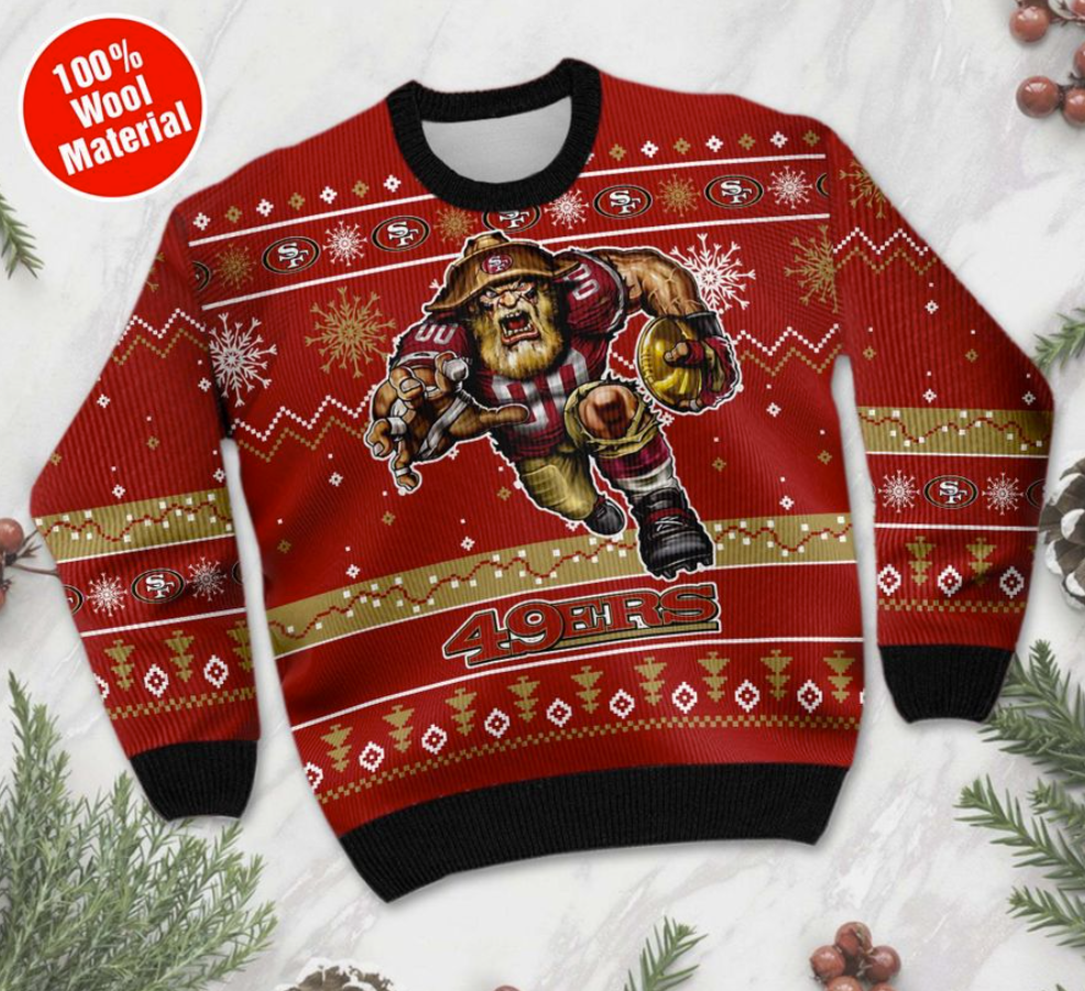 San Francisco 49ers ugly sweater 1