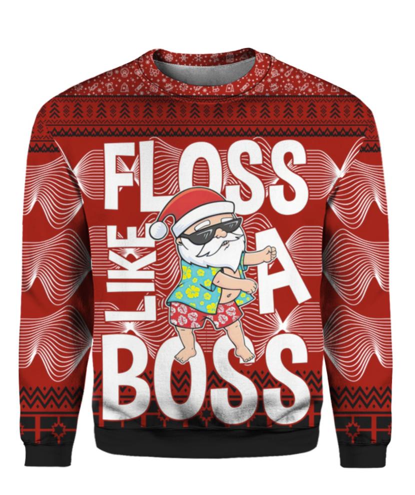 Santa Claus floss like a