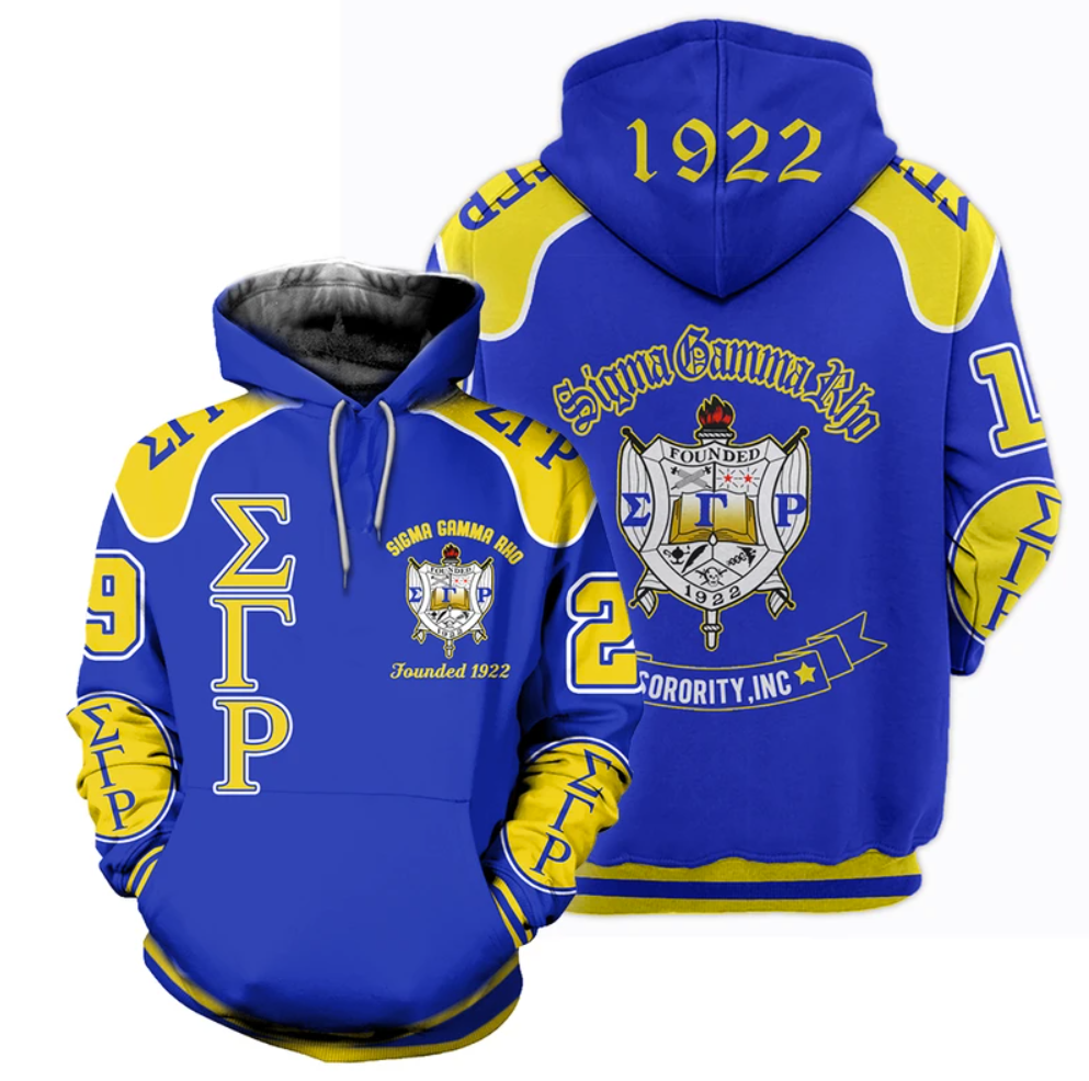 Sigma Gamma Rho all over printed 3D hoodie