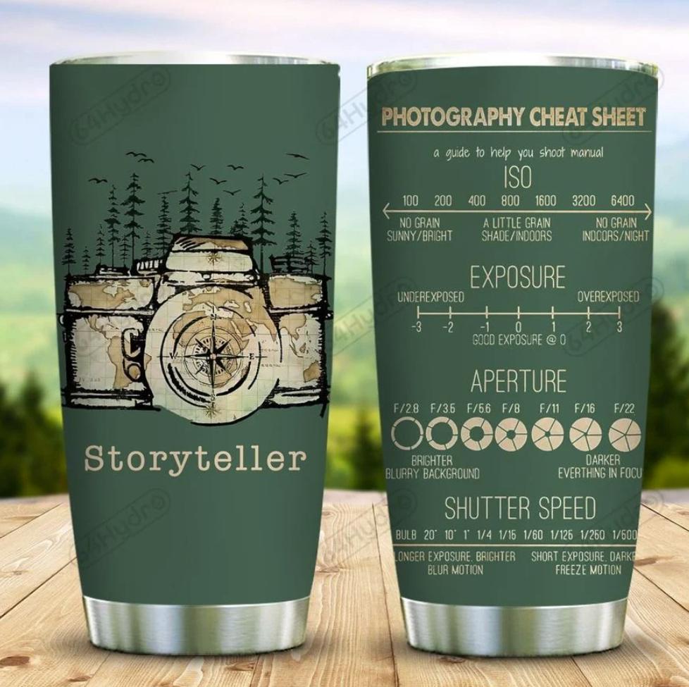Storyteller photography cheat sheet tumbler