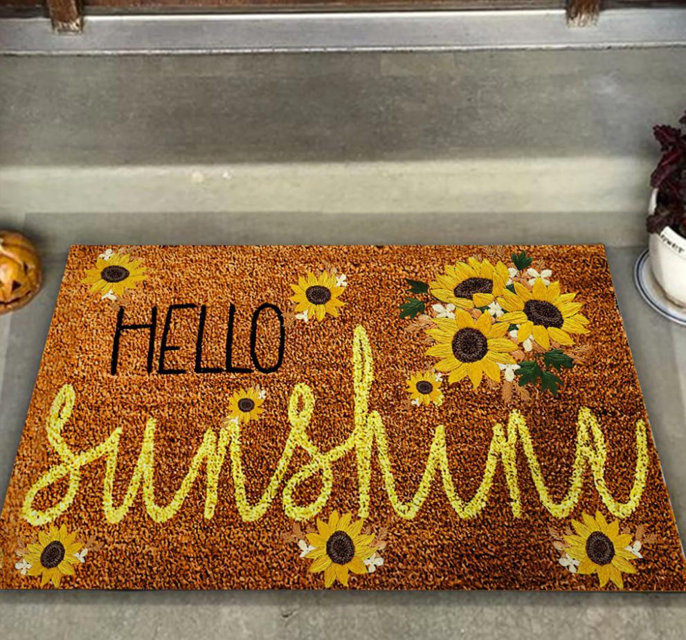 Sunflower hello sunshine doormat 1