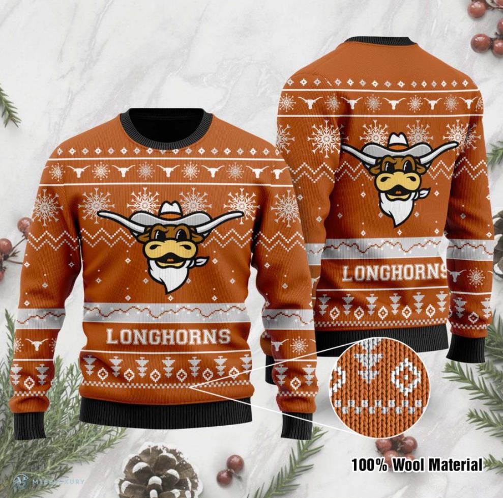 Texas Longhorns football ugly sweater
