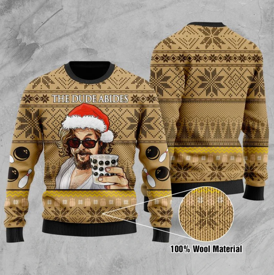 The dude abides ugly sweater