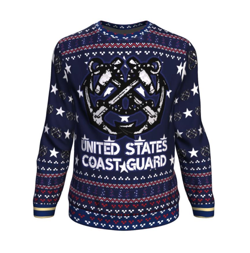 United States coast guard ugly sweater