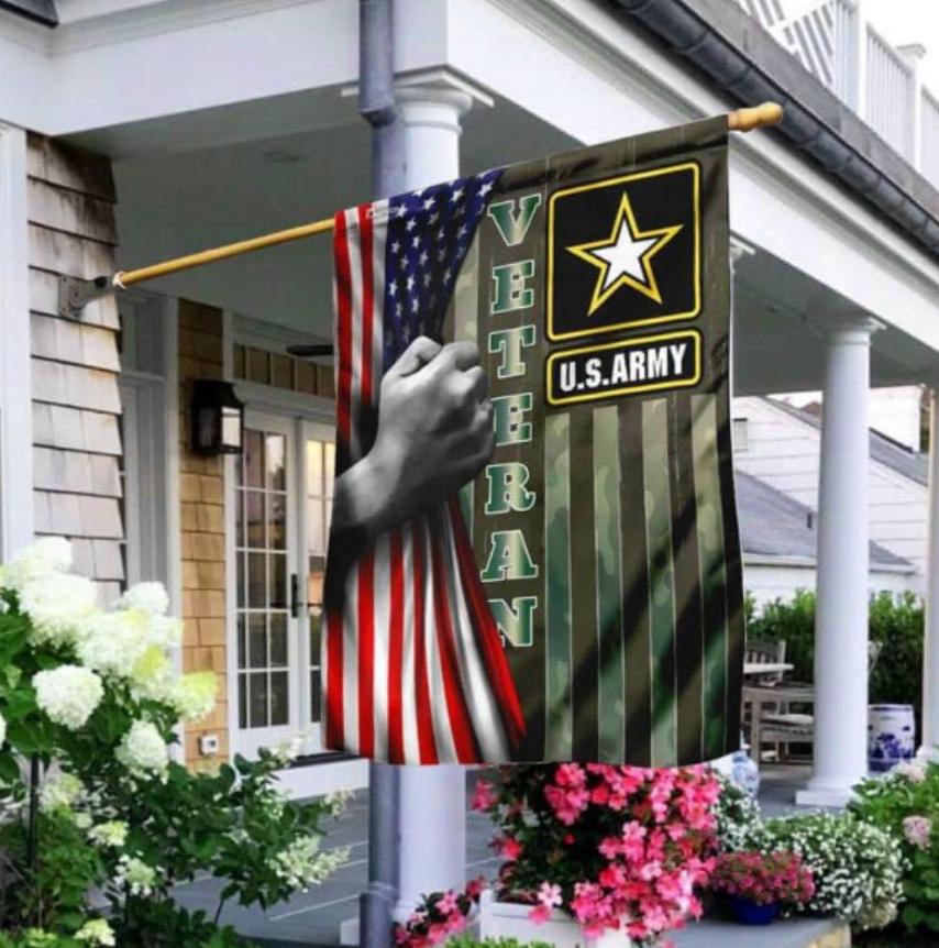Veteran US Army American flag