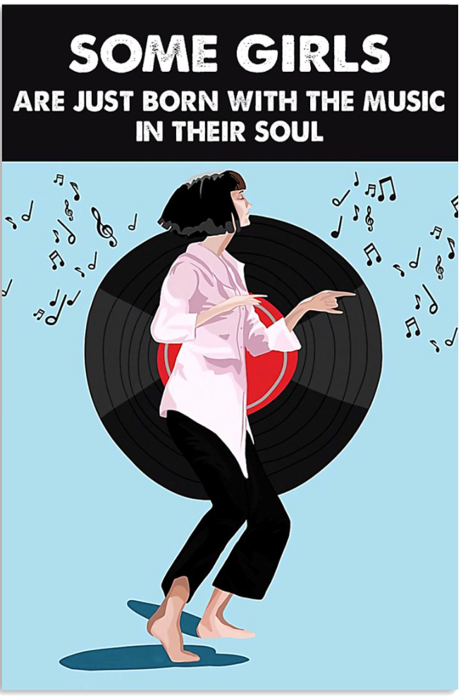 Vinyls some girls are just born with the music in their soul poster