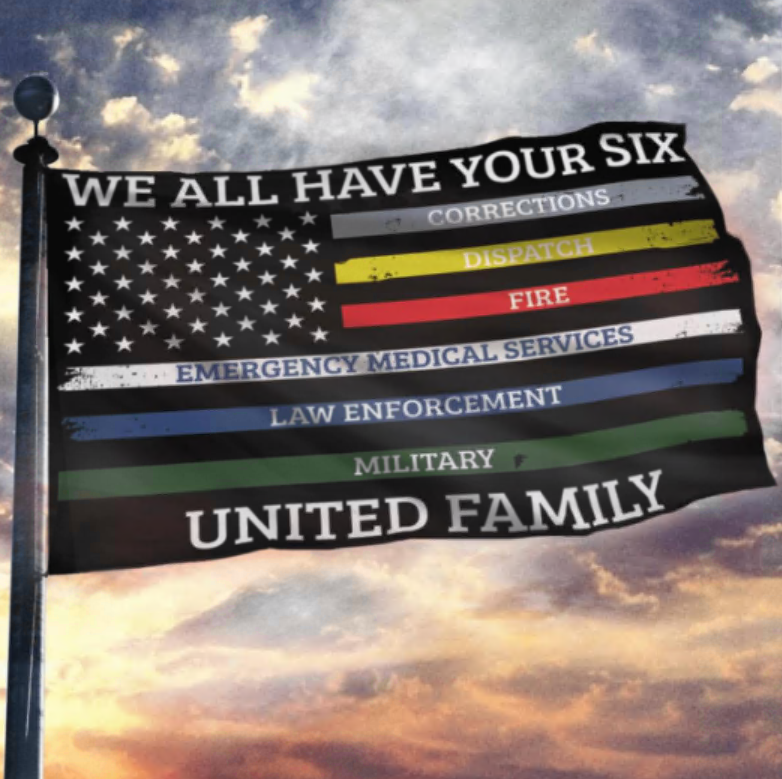 We all have your six American flag
