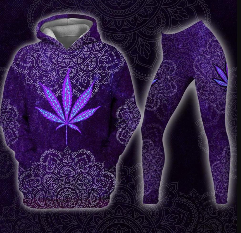 Weed mandala 3D hoodie and legging