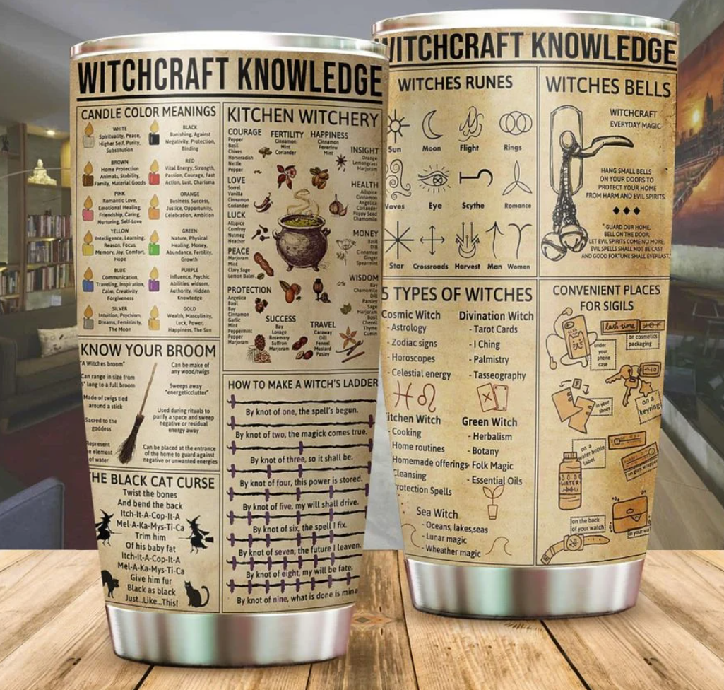 Witchcraft knowledge tumbler