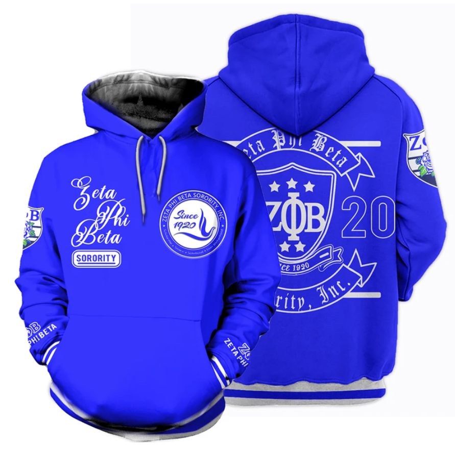 Zeta Phi Beta since 1920 all over printed 3D hoodie