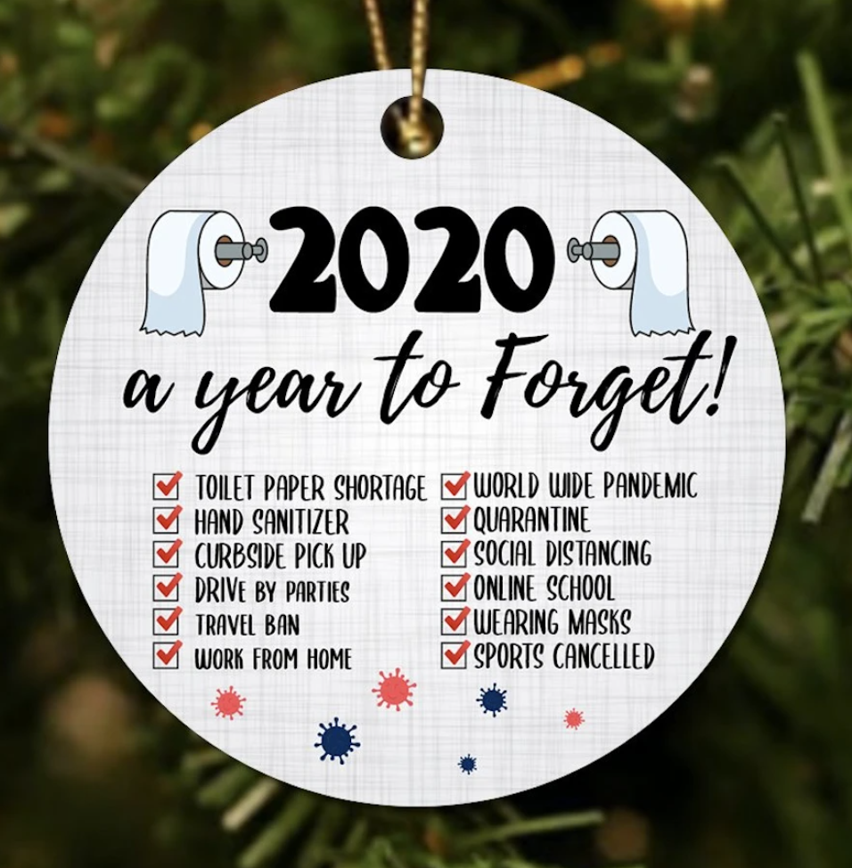 2020 a year to forget Christmas Ornament