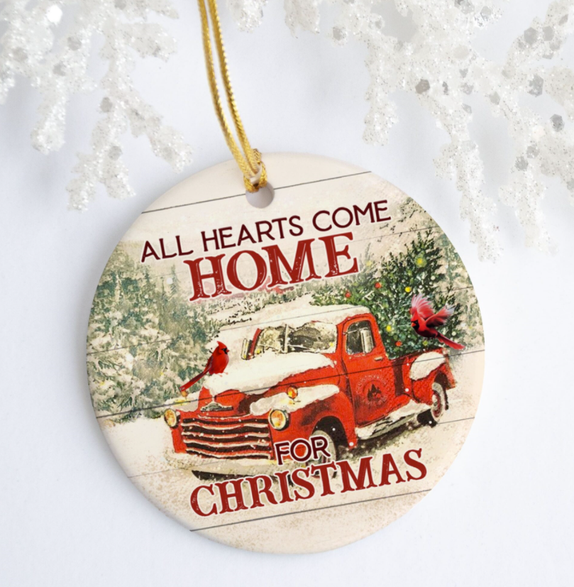 All hearts come home for Christmas Ornament
