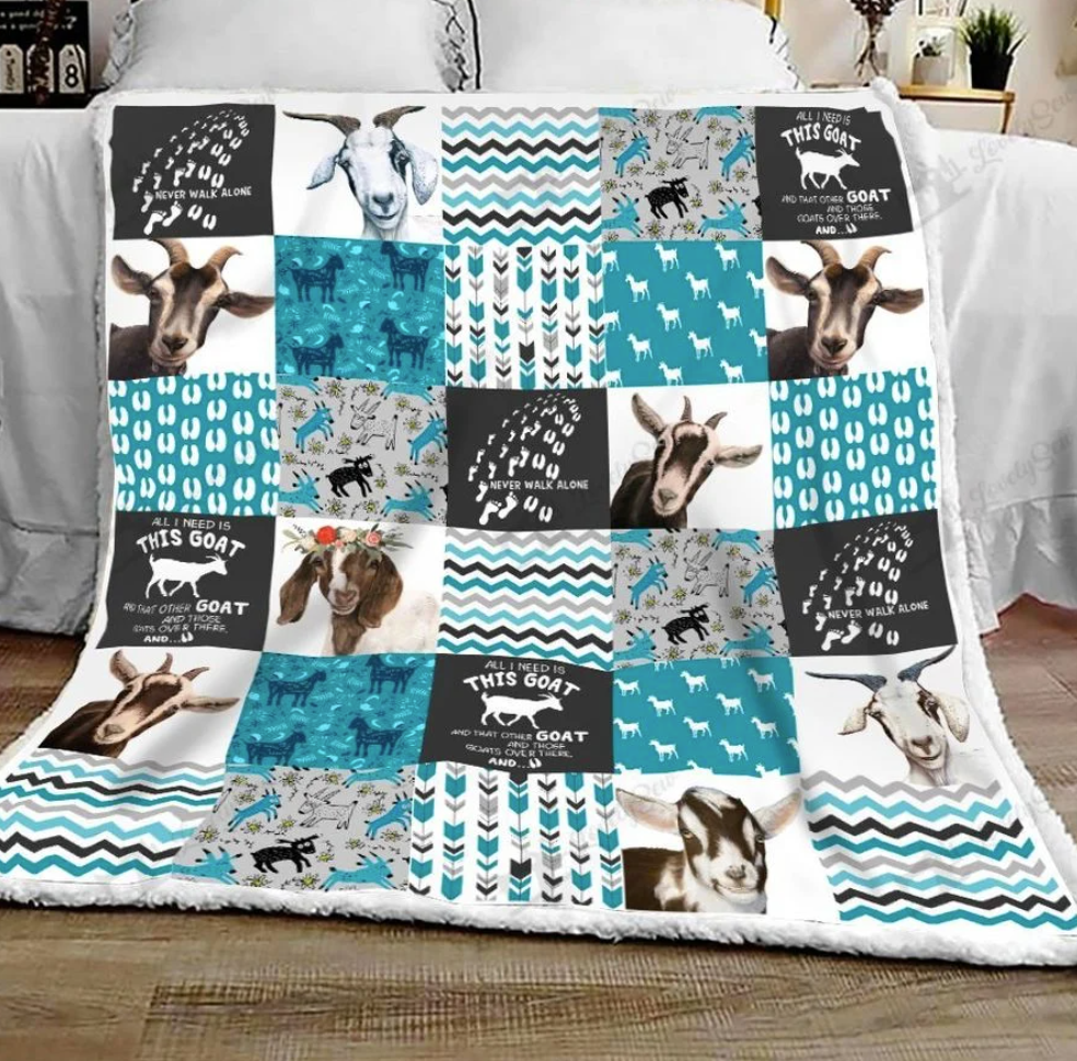 All i need is this goat quilt 1