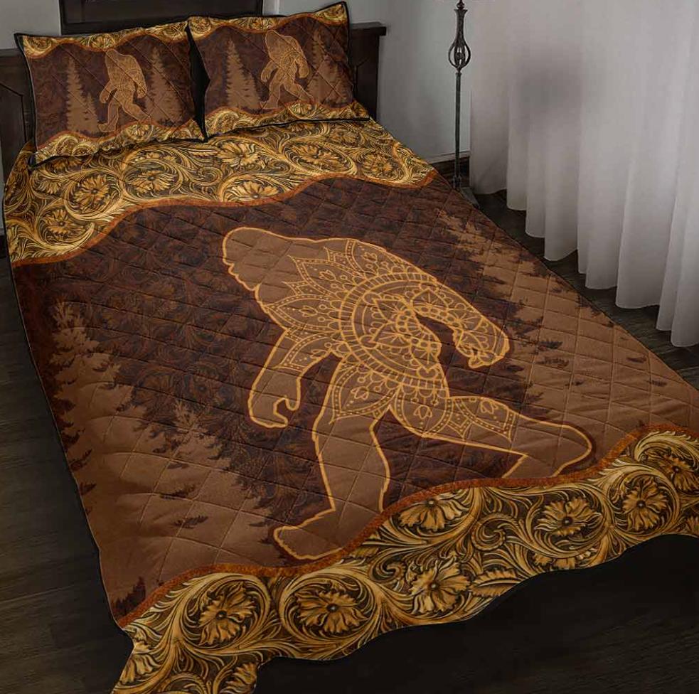 Bigfoot mandala bedding set 1