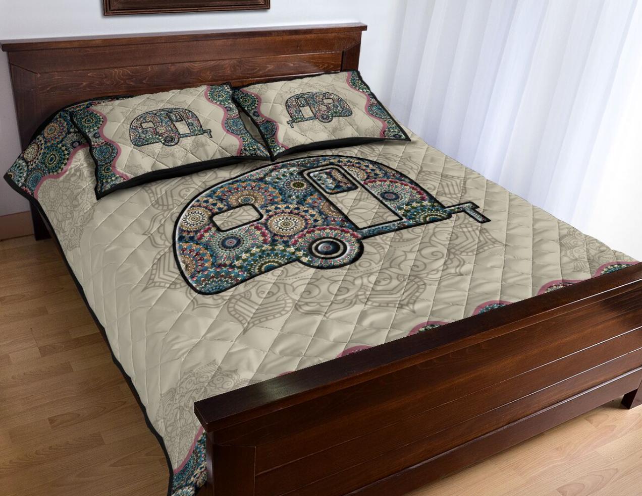 Camper mandala bedding set 1