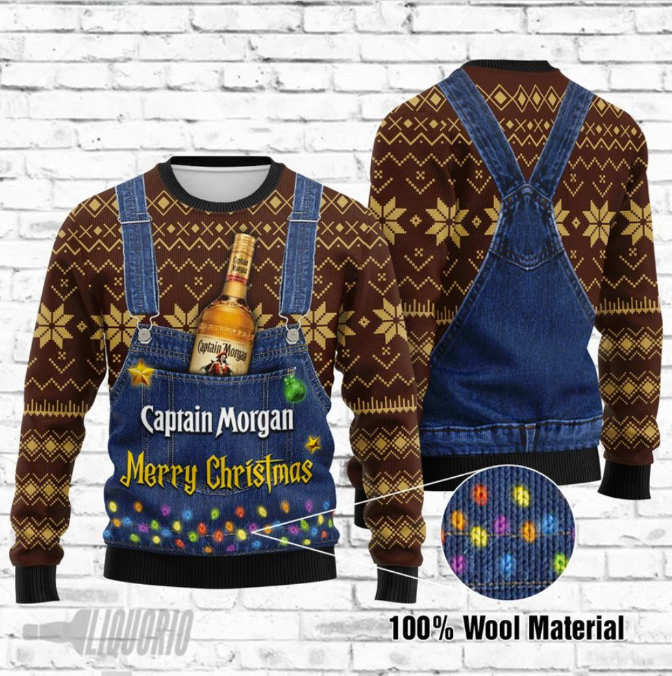 Captain Morgan Merry Christmas ugly sweater