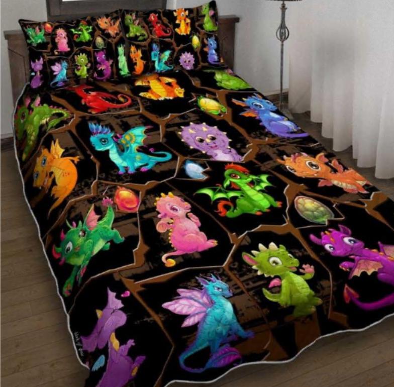 Chibi dragon bedding set