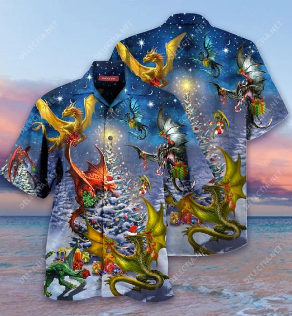 Christmas dragons hawaiian