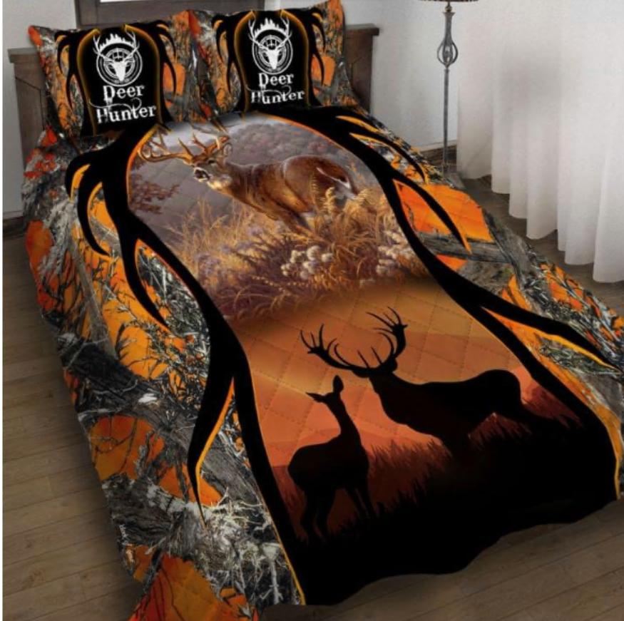 Deer hunter bedding set