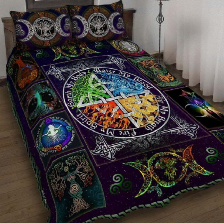 Earth My Body Wiccan Pagan bedding set
