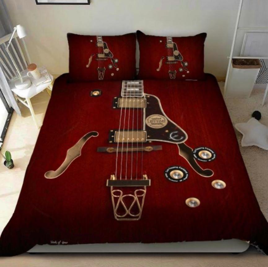 Electric guitar bedding set
