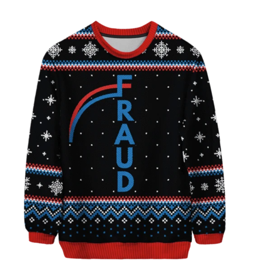 FRAUD ugly sweater