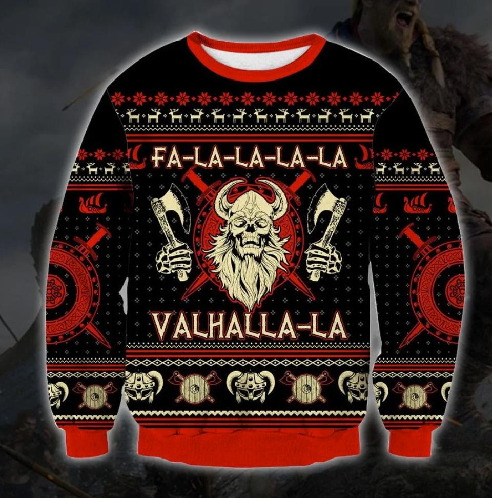 Fa la la la la valhalla ugly sweater