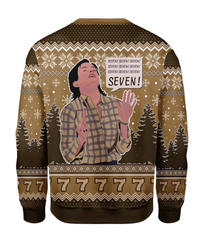 Friends Monica seven seven seven ugly sweater 1