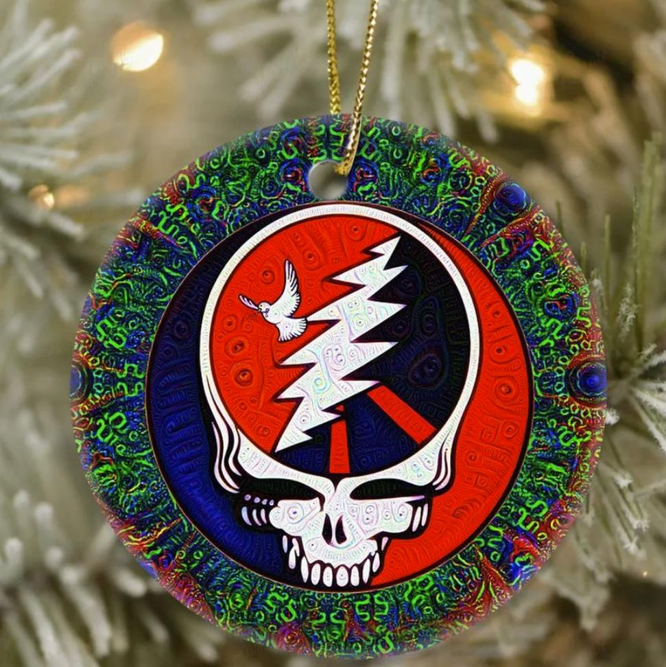 Grateful Dead Christmas Ornament