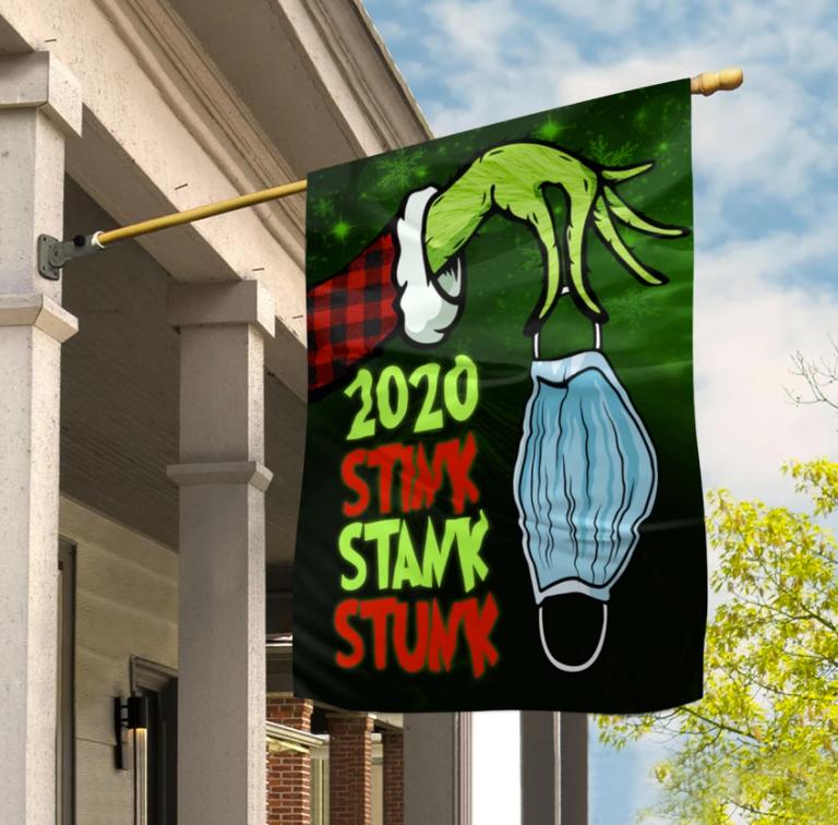 Grinch 2020 stink stank stunk flag