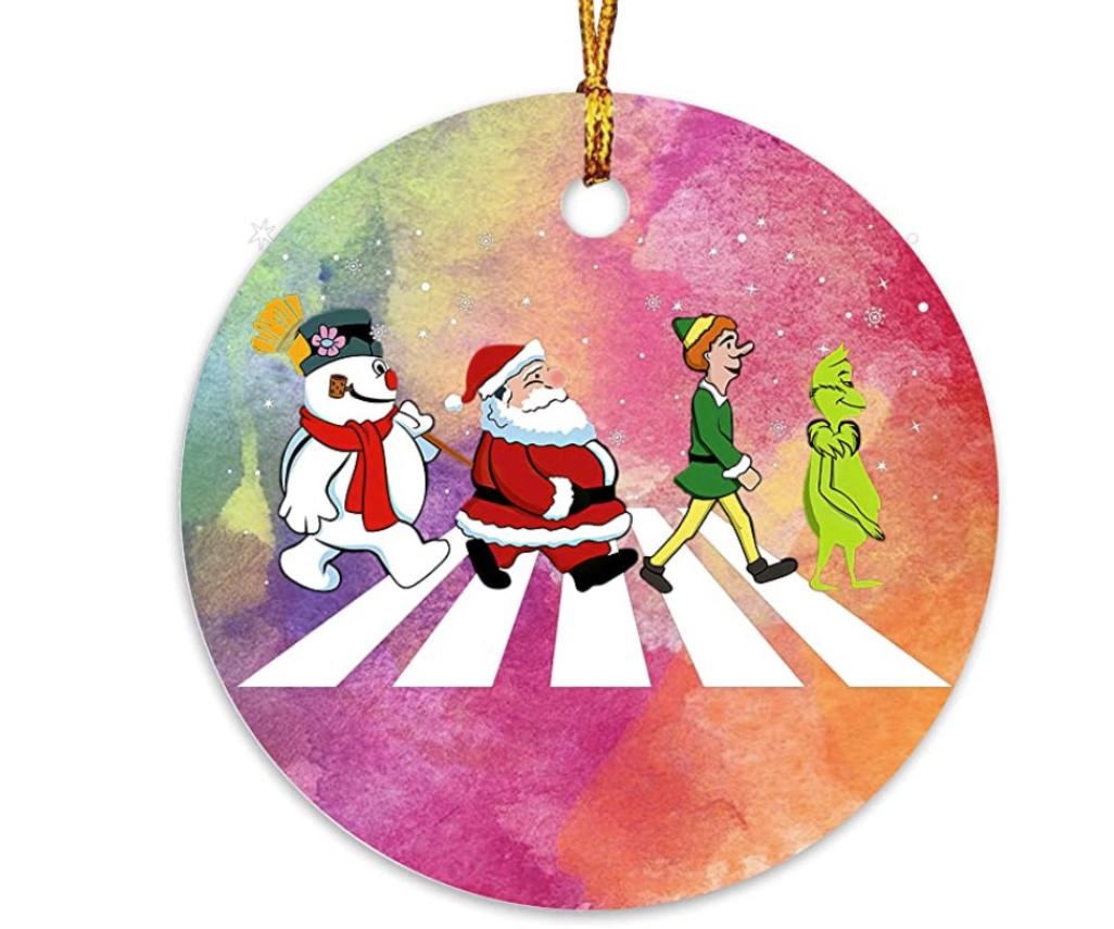 Grinch Abbey Road Christmas Ornament